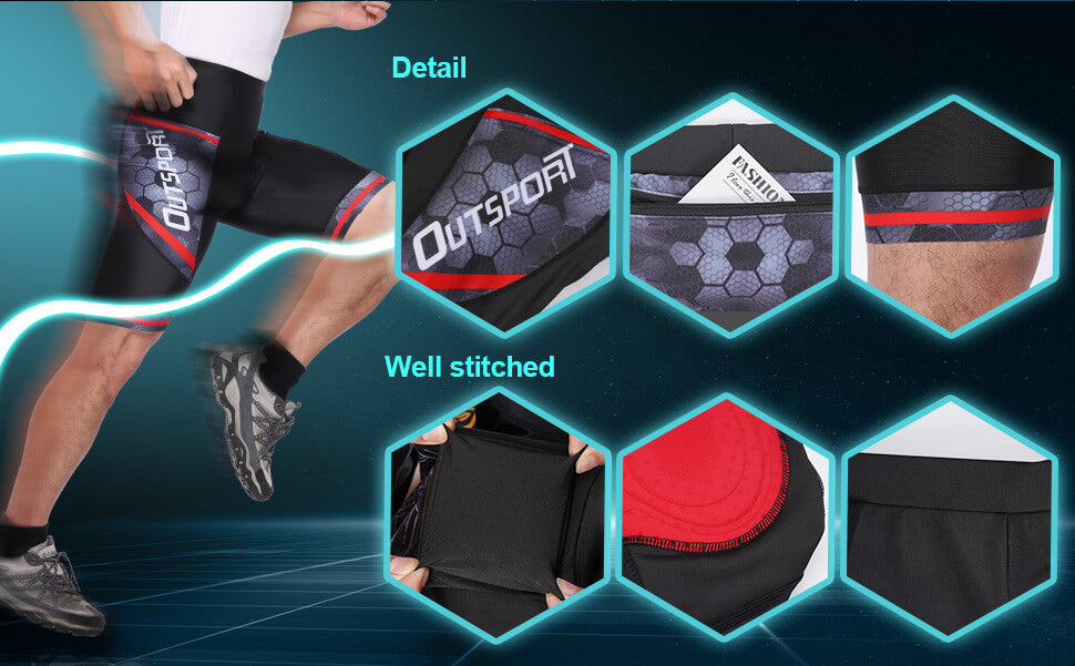 Men's Breathable Padded Cycling Shorts