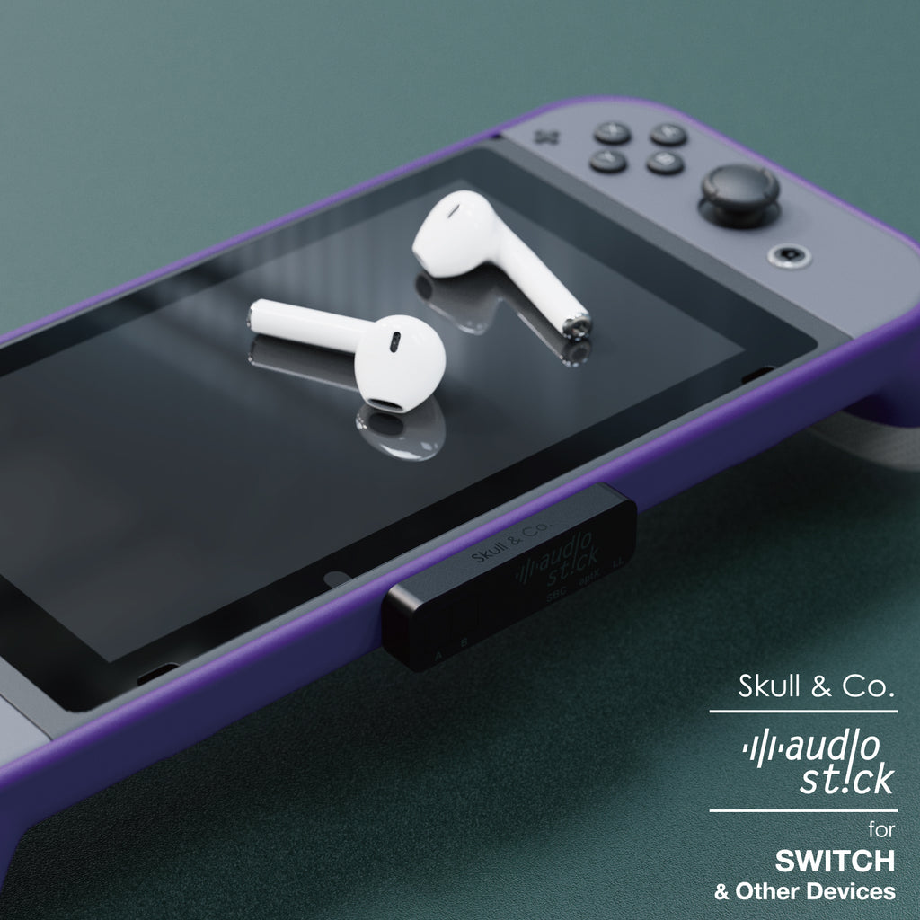 Skull & Co. AudioStick Bluetooth 5.0 Transmitter for Nintendo SWITCH, PS4 and other devices