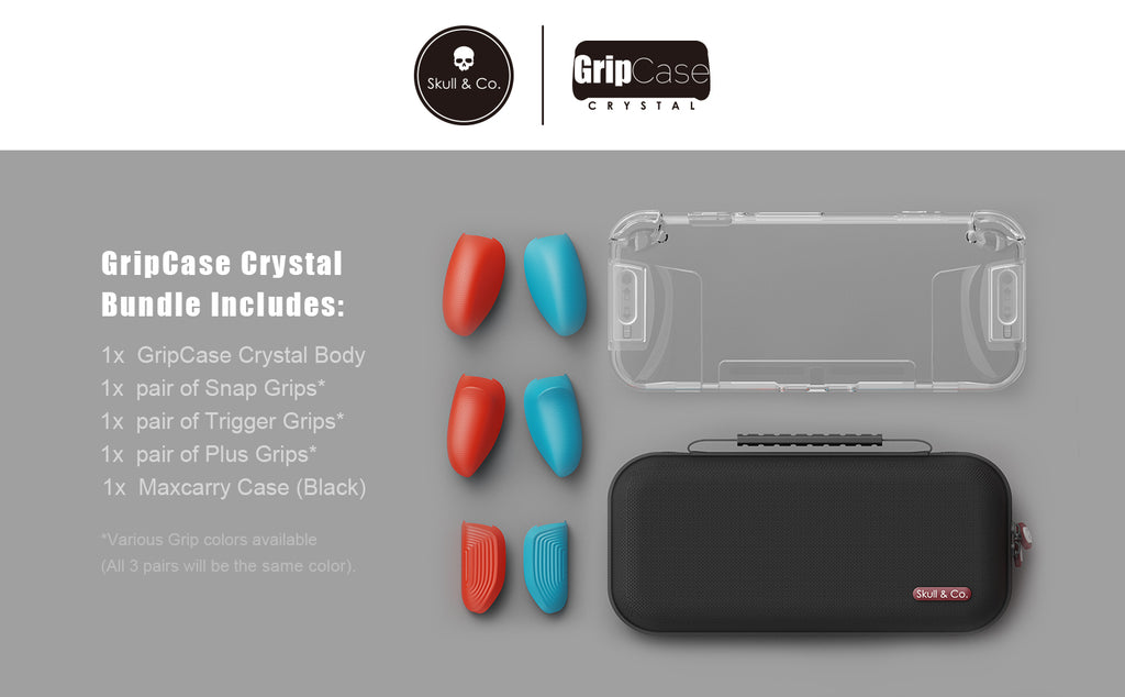 GripCase Crystal bundle for Nintendo Switch