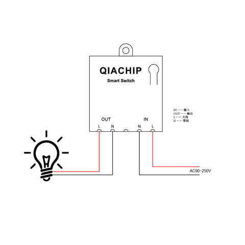Qiachip How to use KR2201G ? A smaller AC Remote control switch !