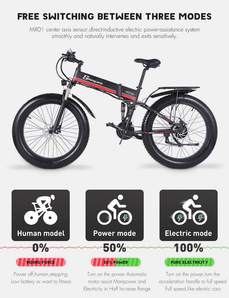 Shengmilo-MX01-1000W-48V-Foldable-Electric-Mountain-Bike-with-Full-Suspension-33