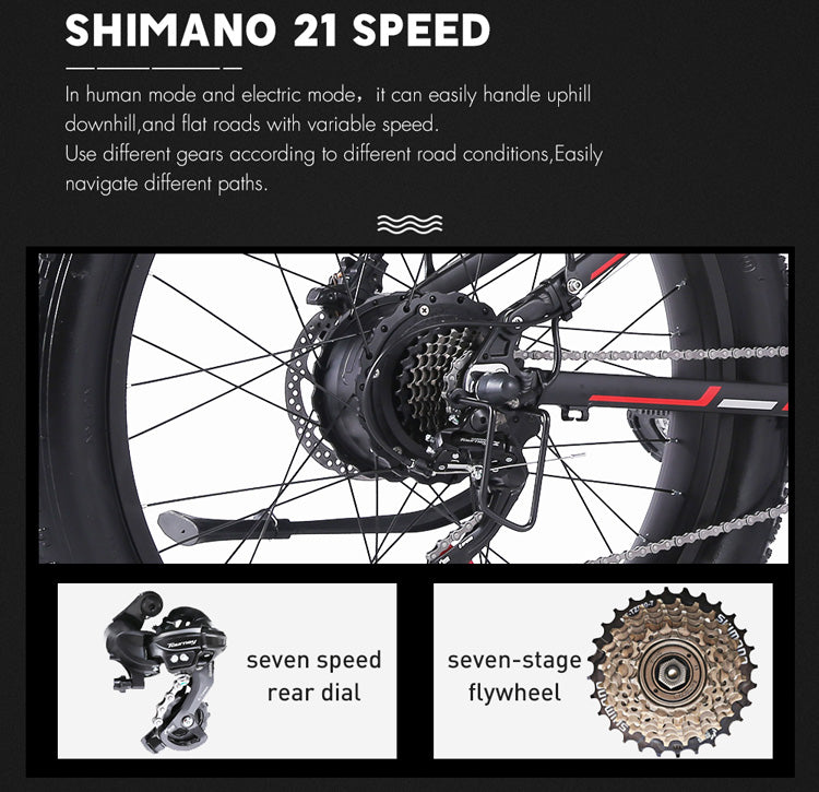 Shengmilo-MX01-1000W-48V-Foldable-Electric-Mountain-Bike-with-Full-Suspension-16