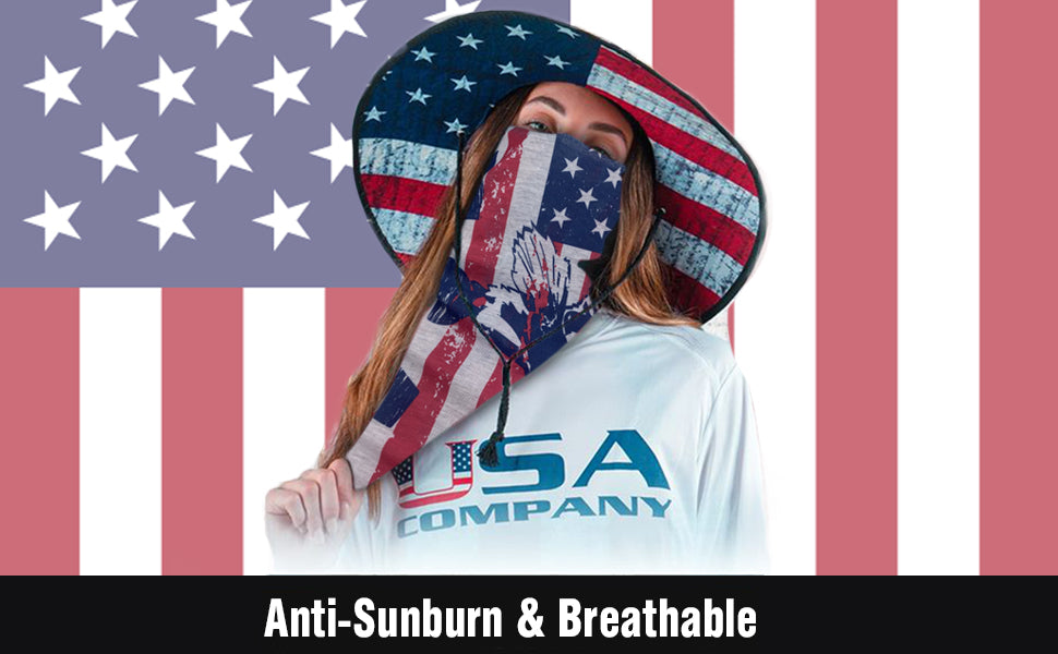 The American Patriot Multiple Use Face Cover Neck Tube
