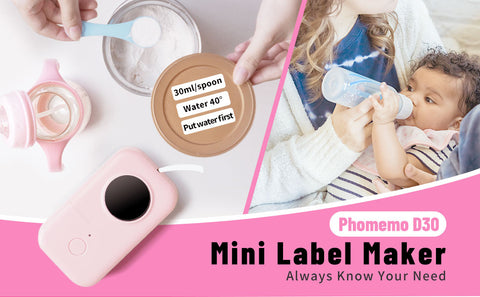 D30 label printer for mark baby products