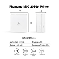 Phomemo M02 Mini Bluetooth Portable Thermal Printer
