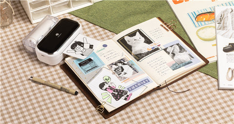 make creative bullet journal with M03 portable thermal printer
