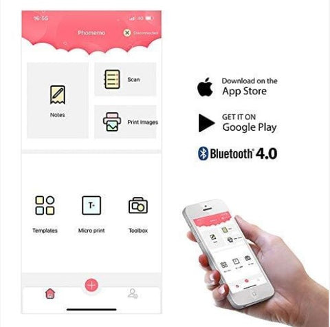 get the Phomemo App from Google Play and Apple Store