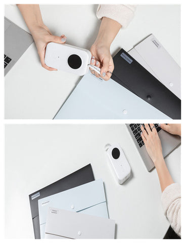 files marking with D30 portable label printer