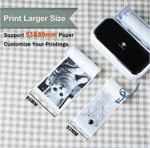 larger size with Phomemo M03 printer