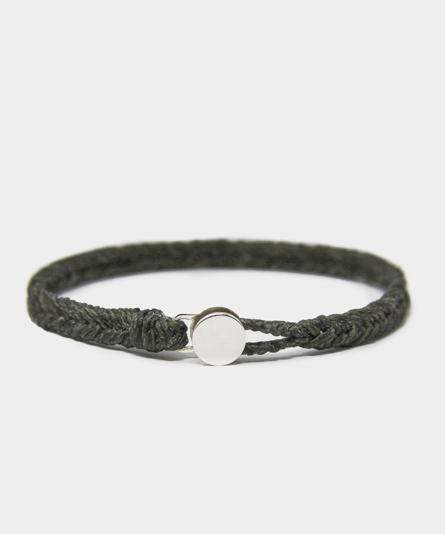 Scosha Classic Fishtail Button Bracelet in Army