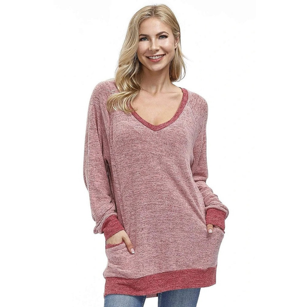MIER Women's Soft Casual Sweatshirt