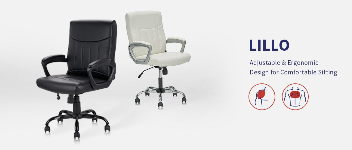 Clatina Lillo Leather Ergonomic Office Executive Chair Overview