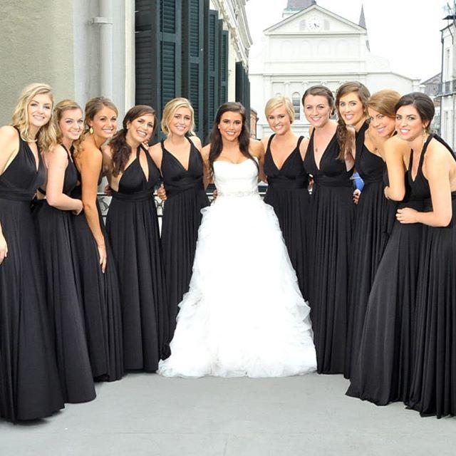 Convertible Bridesmaid Dresses Black
