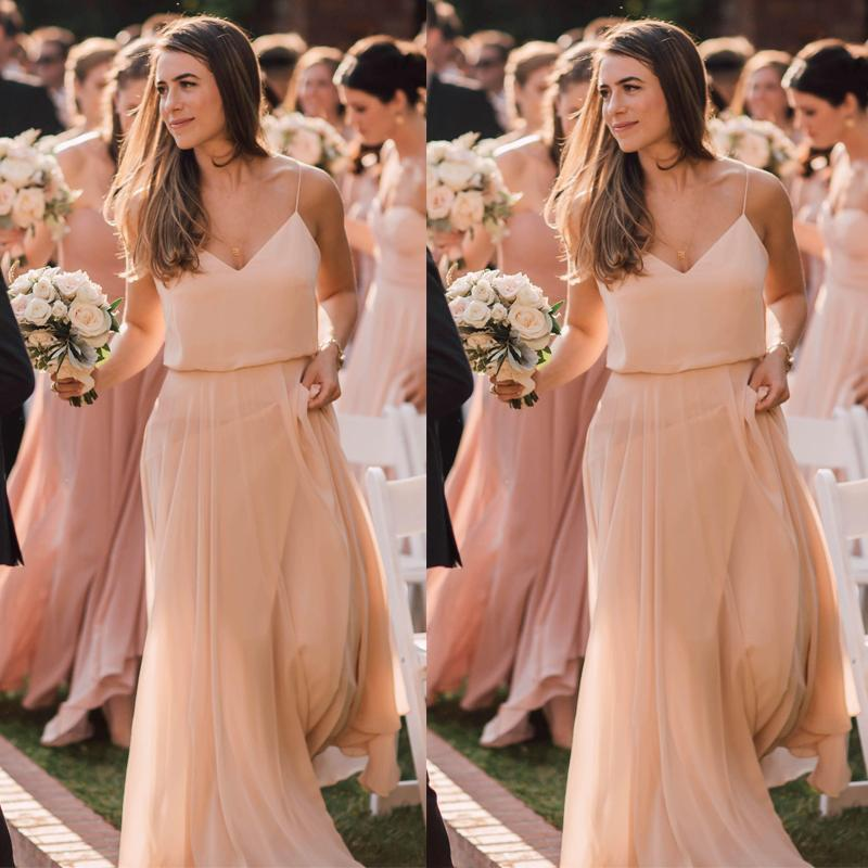 Summer Chiffon Bridesmaid Dress