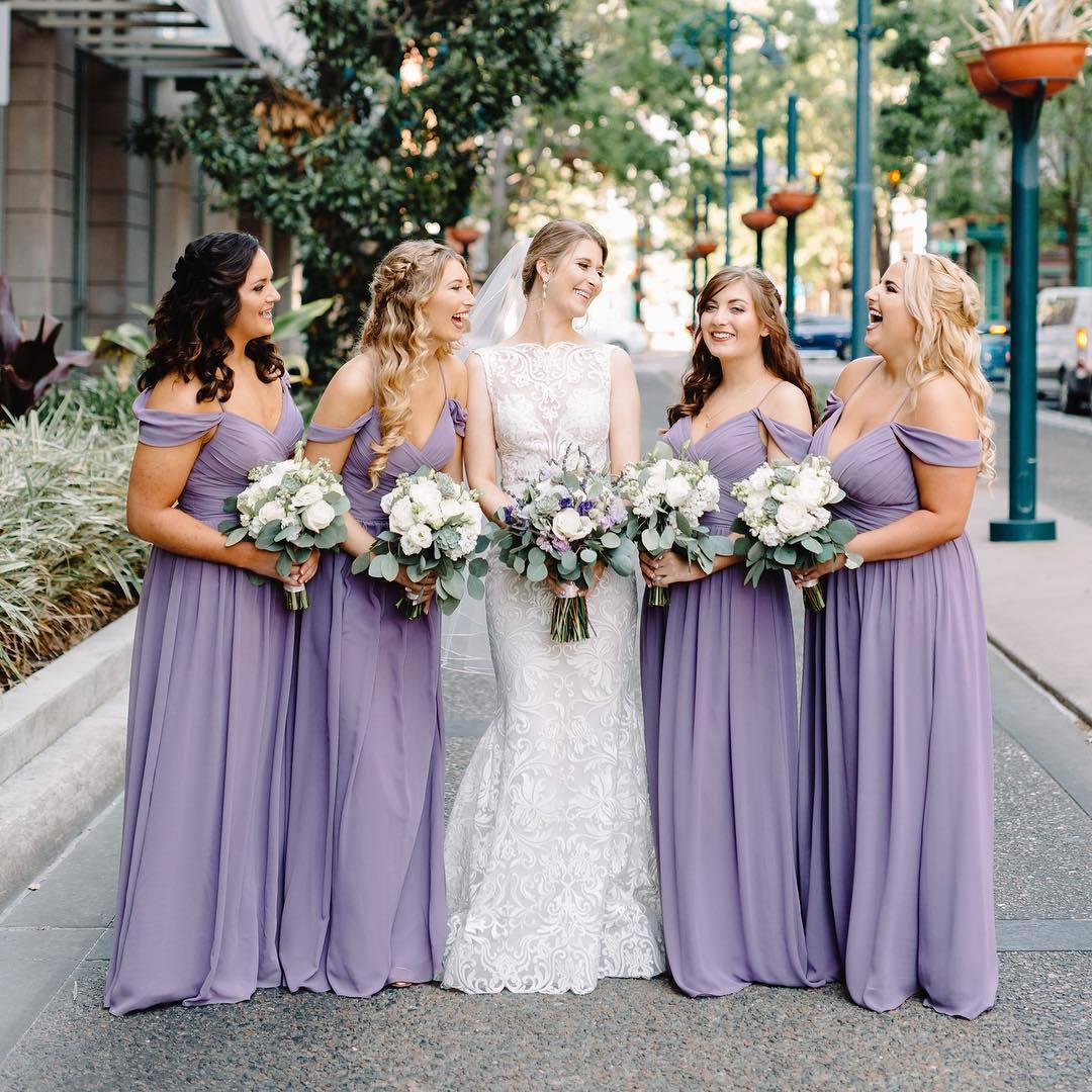 Cheap Purple Bridesmaid Dresses