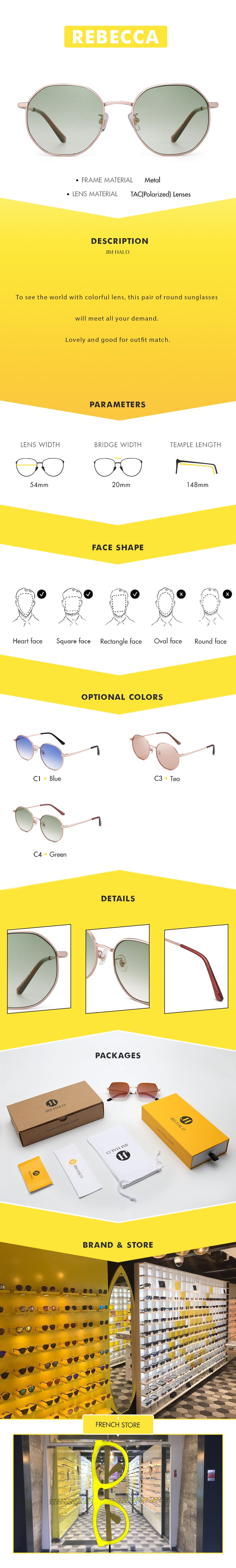 To see the world with colorful lens, this pair of round sunglasses will meet all your demand.  Lovely and good for outfit match.
