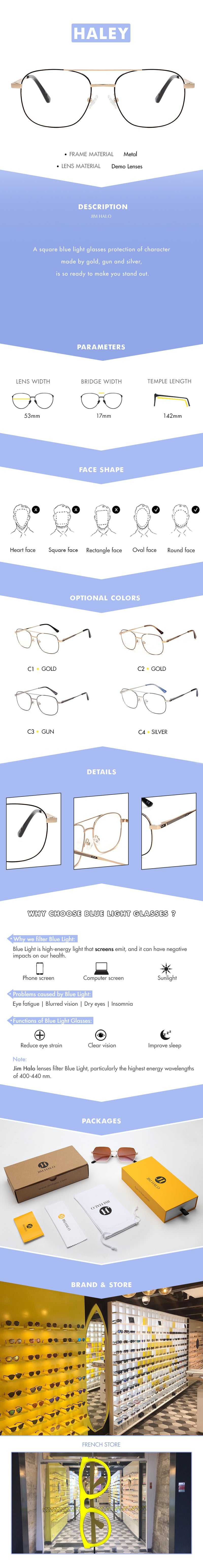 A square blue light glasses protection of character made by gold, gun and silver, is so ready to make you stand out.