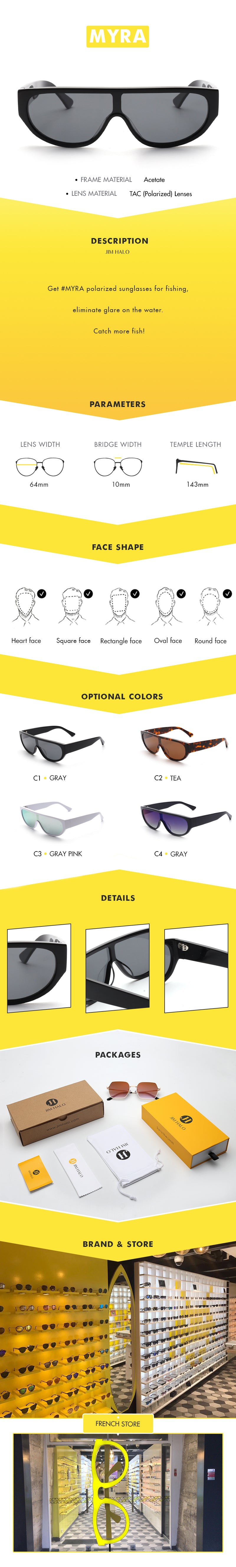 Get #MYRA polarized sunglasses for fishing, eliminate glare on the water. Catch more fish!