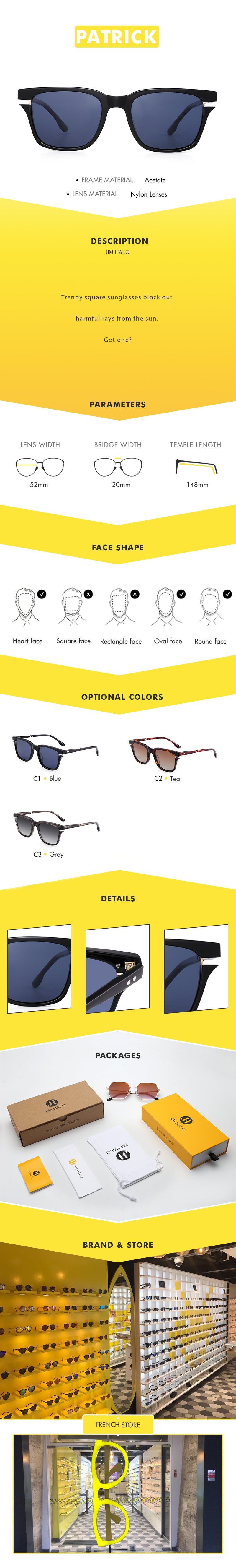 Trendy square sunglasses block out harmful rays from the sun.  Got one?