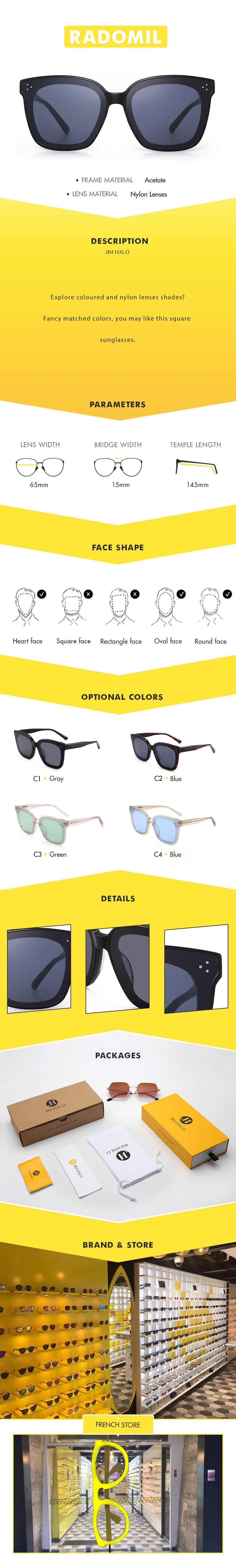 Explore coloured and nylon lenses shades? Fancy matched colors, you may like this square sunglasses.