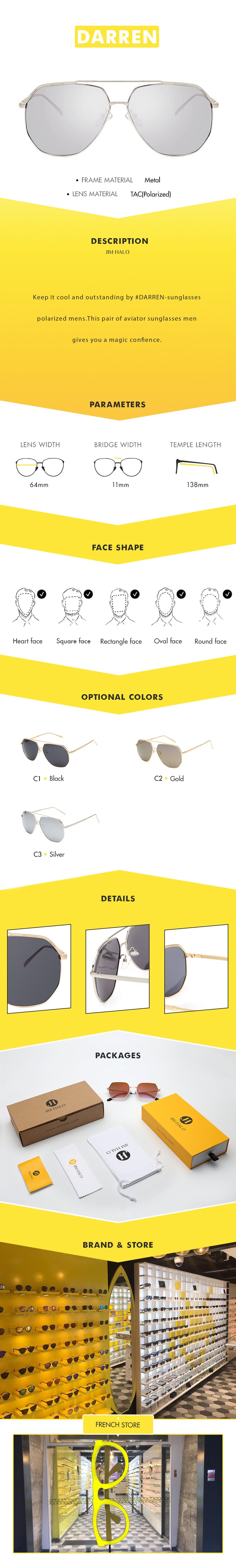 Keep it cool and outstanding by #DARREN-sunglasses polarized mens. This pair of aviator sunglasses men gives you a magic confience.