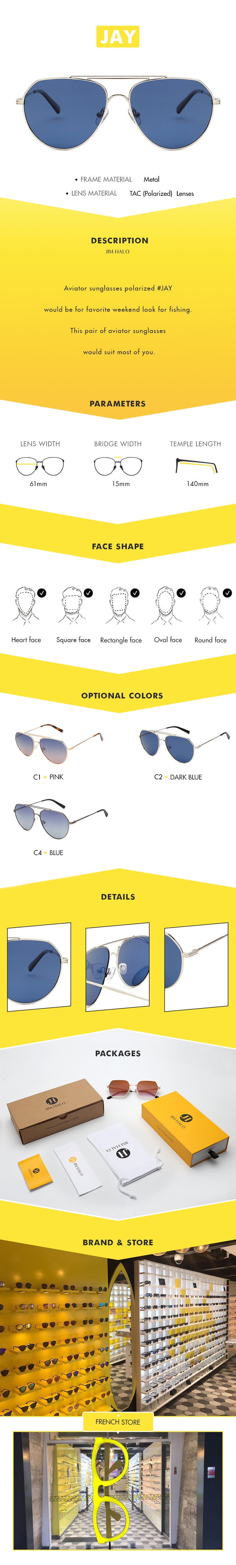 Aviator sunglasses polarized #JAY would be for favorite weekend look for fishing This pair of aviator sunglasses would suit most of you.