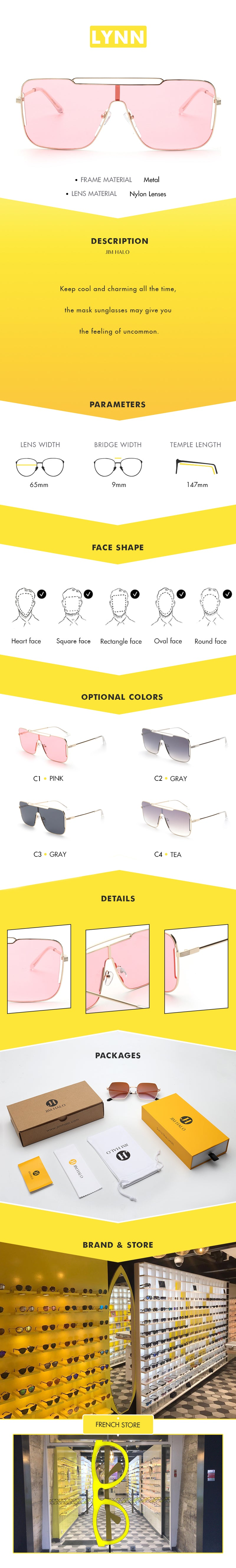 Keep cool and charming all the time, the mask sunglasses may give you the feeling of uncommon.