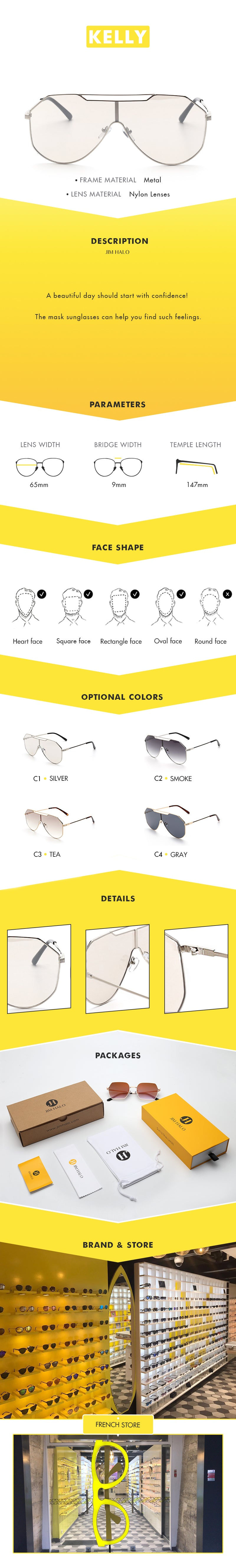A beautiful day should start with confidence! The mask sunglasses can help you find such feelings.