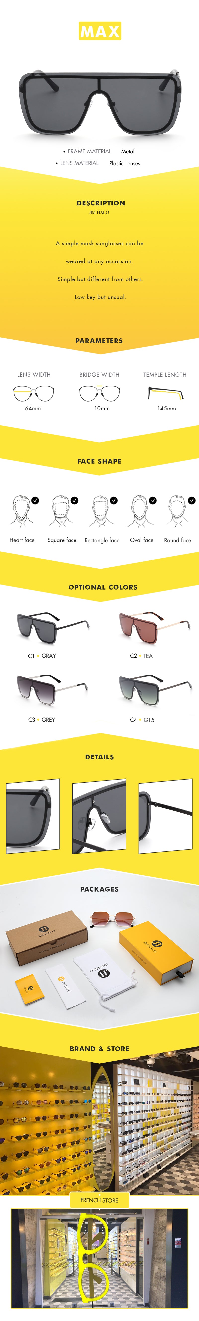 A simple mask sunglasses can be weared at any occassion. Simple but different from others.Low key but unsual.