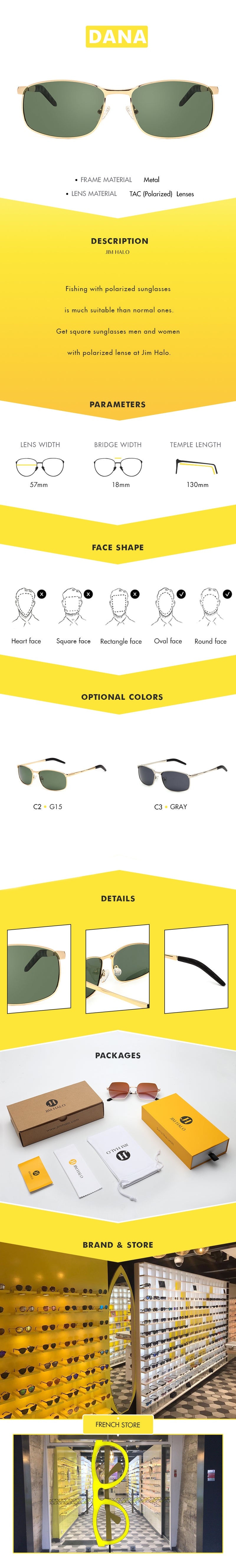 Fishing with polarized sunglasses is much suitable than normal ones.Get square sunglasses men and women with polarized lense at Jim Halo.