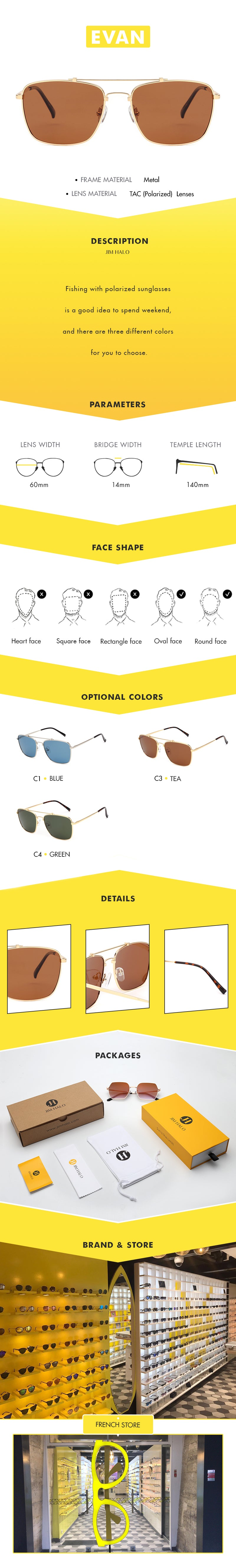 Fishing with polarized sunglasses is a good idea to spend weekend, and there are three different colors for you to choose.