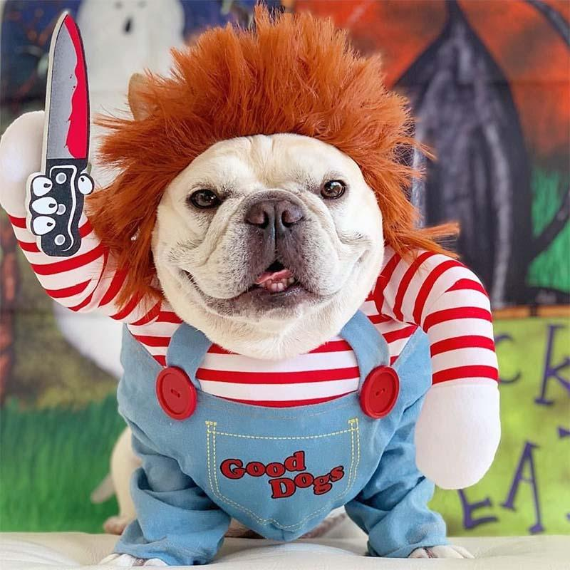 Deadly Doll Dog Costume for French Bulldogs- Frenchiely