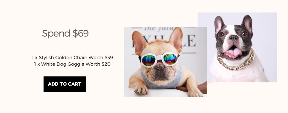 Frenchiely french bulldog goggles + collars for free with any $69.00 purchase