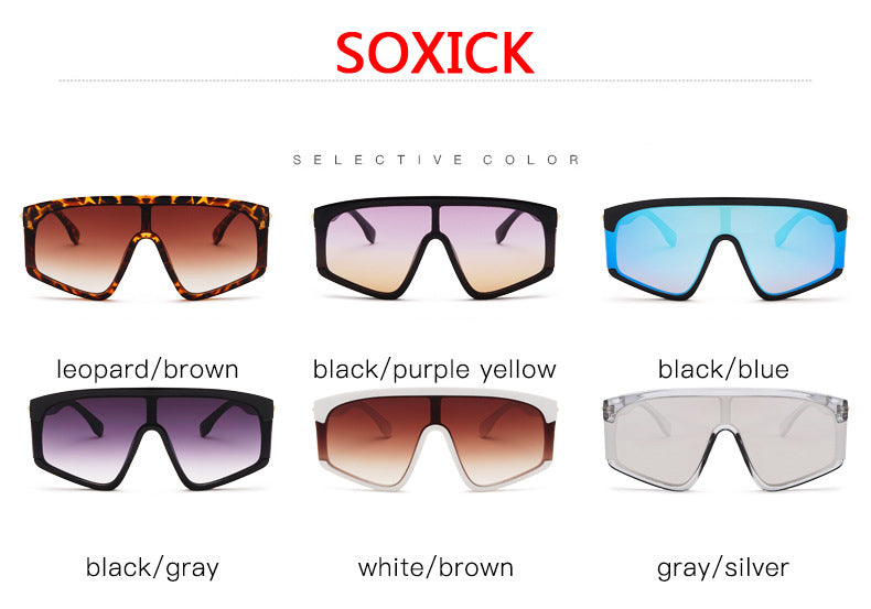 Integrated Large Frame Sunglasses Select Color