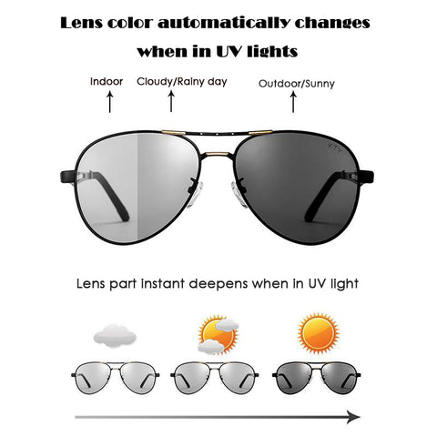 KTY Multifunctional Photochromic Polarized Sunglasses