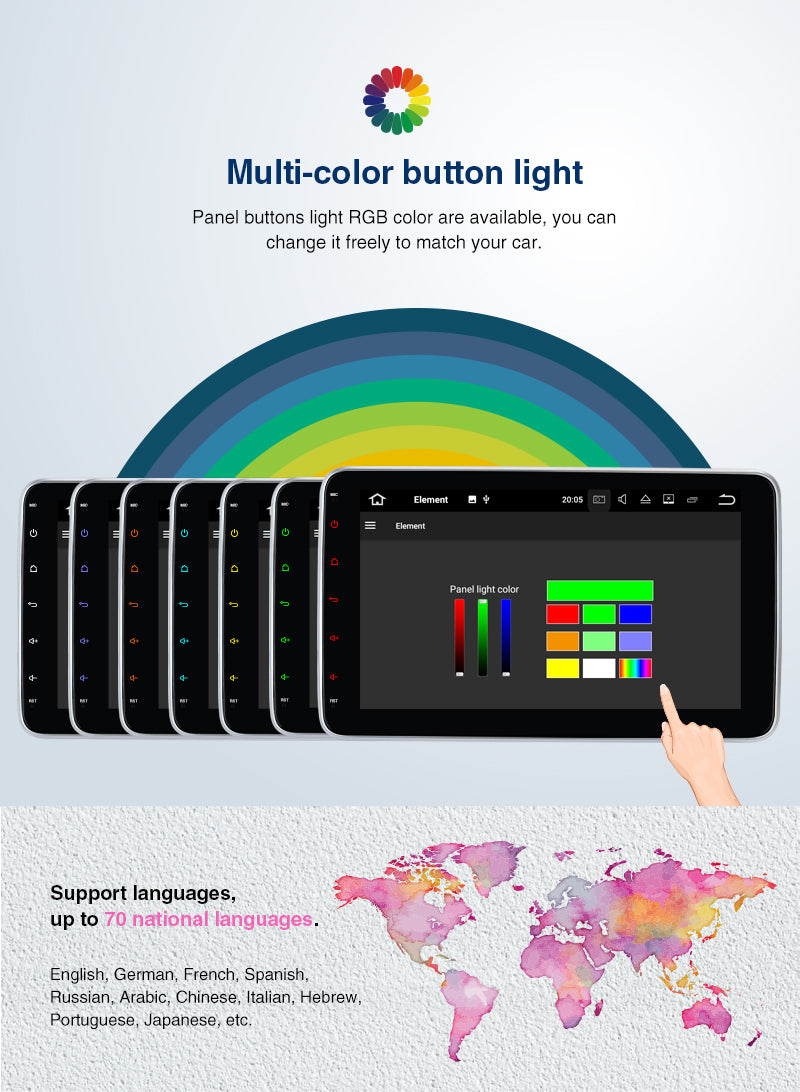 pumpkin single din touch screen android 10