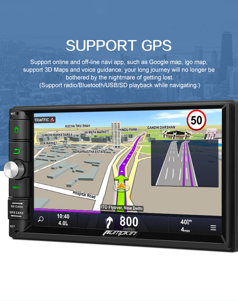 7 inch double din touch screen