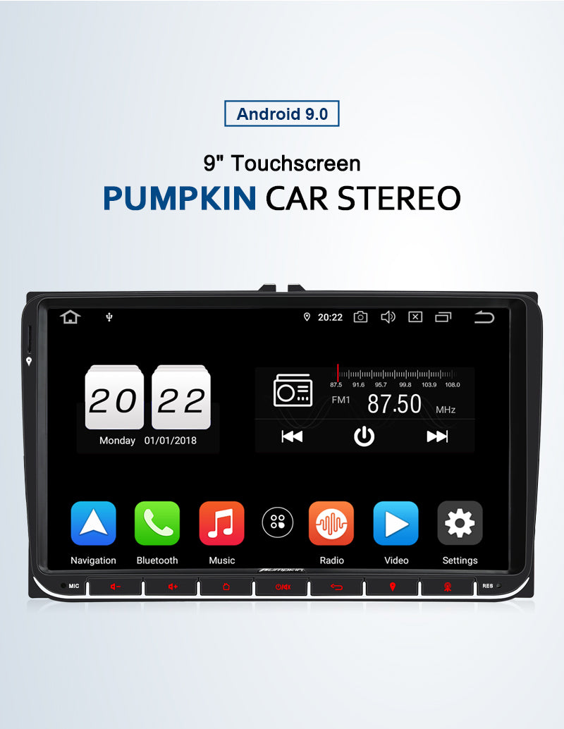 Pumpkin vw head unit