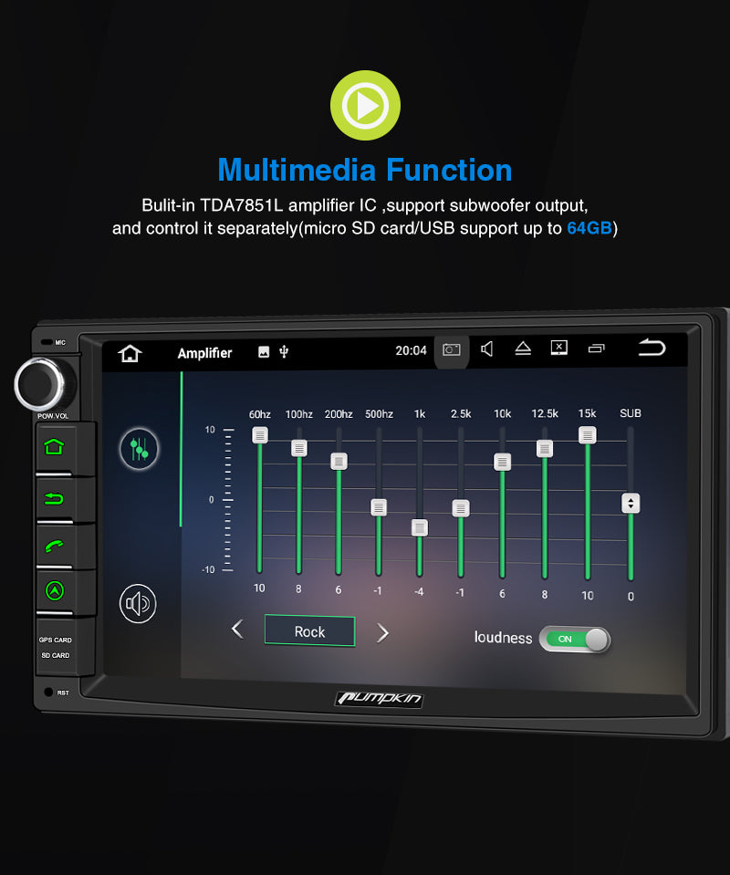 android 10 autoradio with DAB