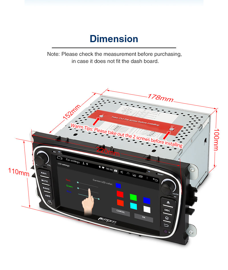 2 din android 9.0 car stereo