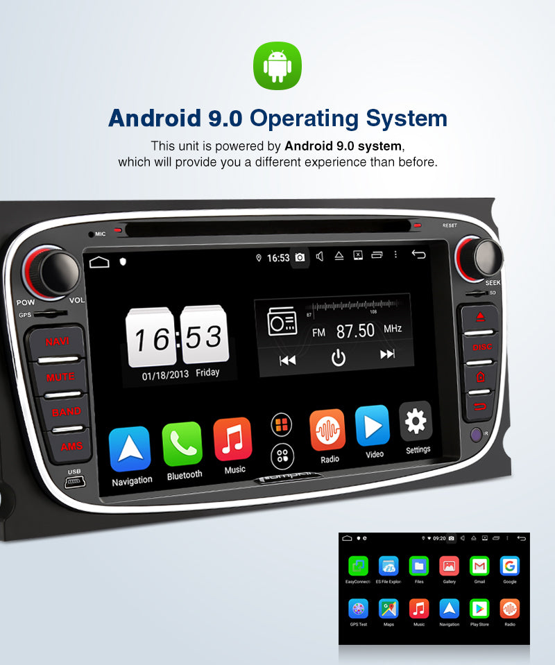 ford focus Android 9.0 stereo