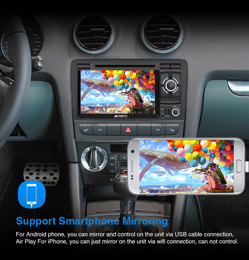 Audi A3 touch screen radio