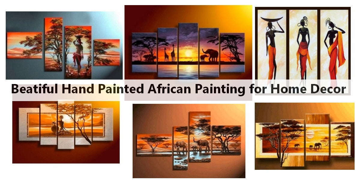 Acrylic African Painting, African Painting, African Woman Paintings, African Landscape Paintings