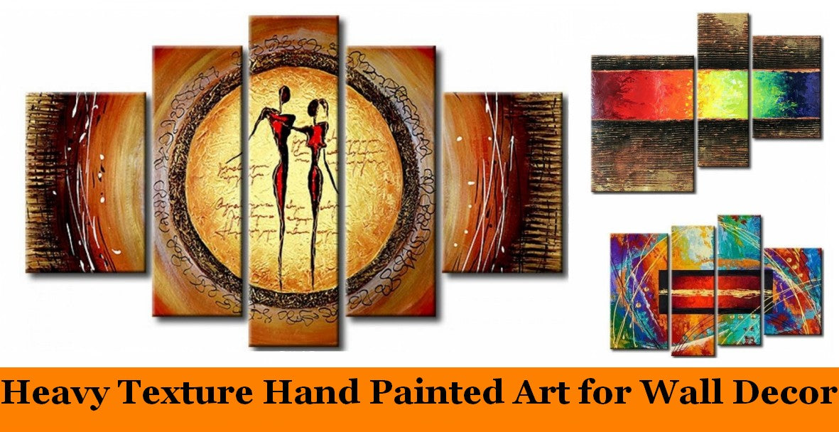 Modern Abstract Paintings for Living Room, Heavy Texture Canvas Art, Large Paintings for Bedroom, Hand Painted Acrylic Paintings