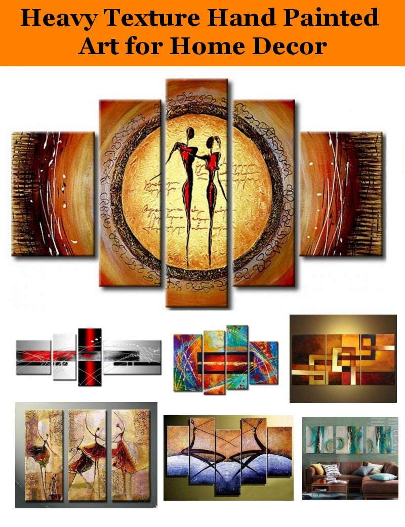 Modern Abstract Paintings for Living Room, Large Canvas Paintings for Bedroom, Hand Painted Acrylic Wall Art Paintings