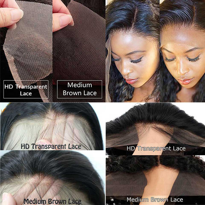 13X4 HD Undetected Transparent Swiss Lace Front Wig Brazilian Body Wave Human Hair Wigs