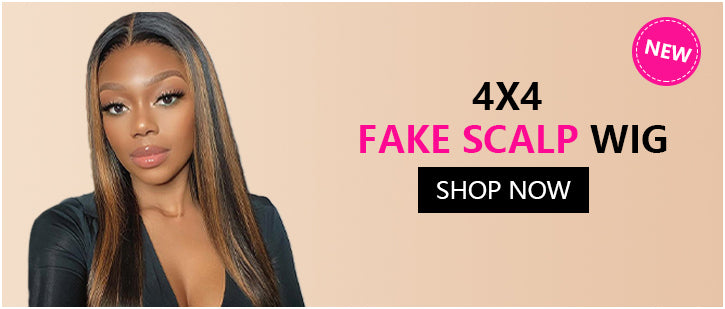 4*4 FAKE SCALP WIG