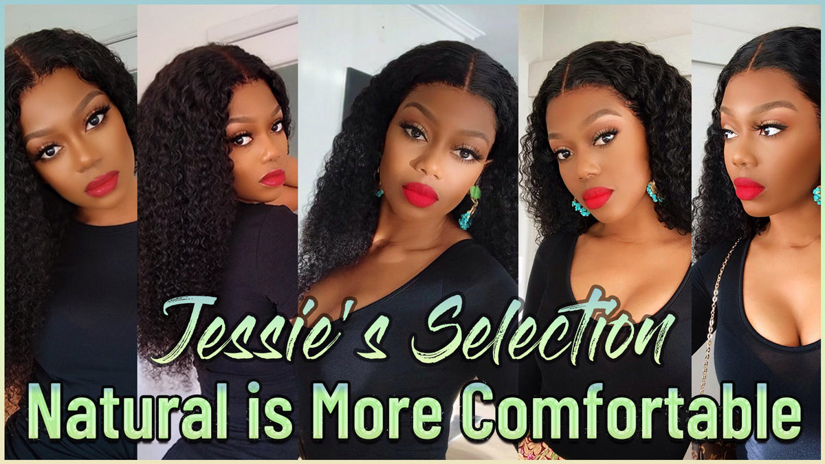 Afro Kinky Curly 4x4 Lace Closure Human Hair Wigs For Black Women Remy Brazilian Curly Hair Closure Wigs