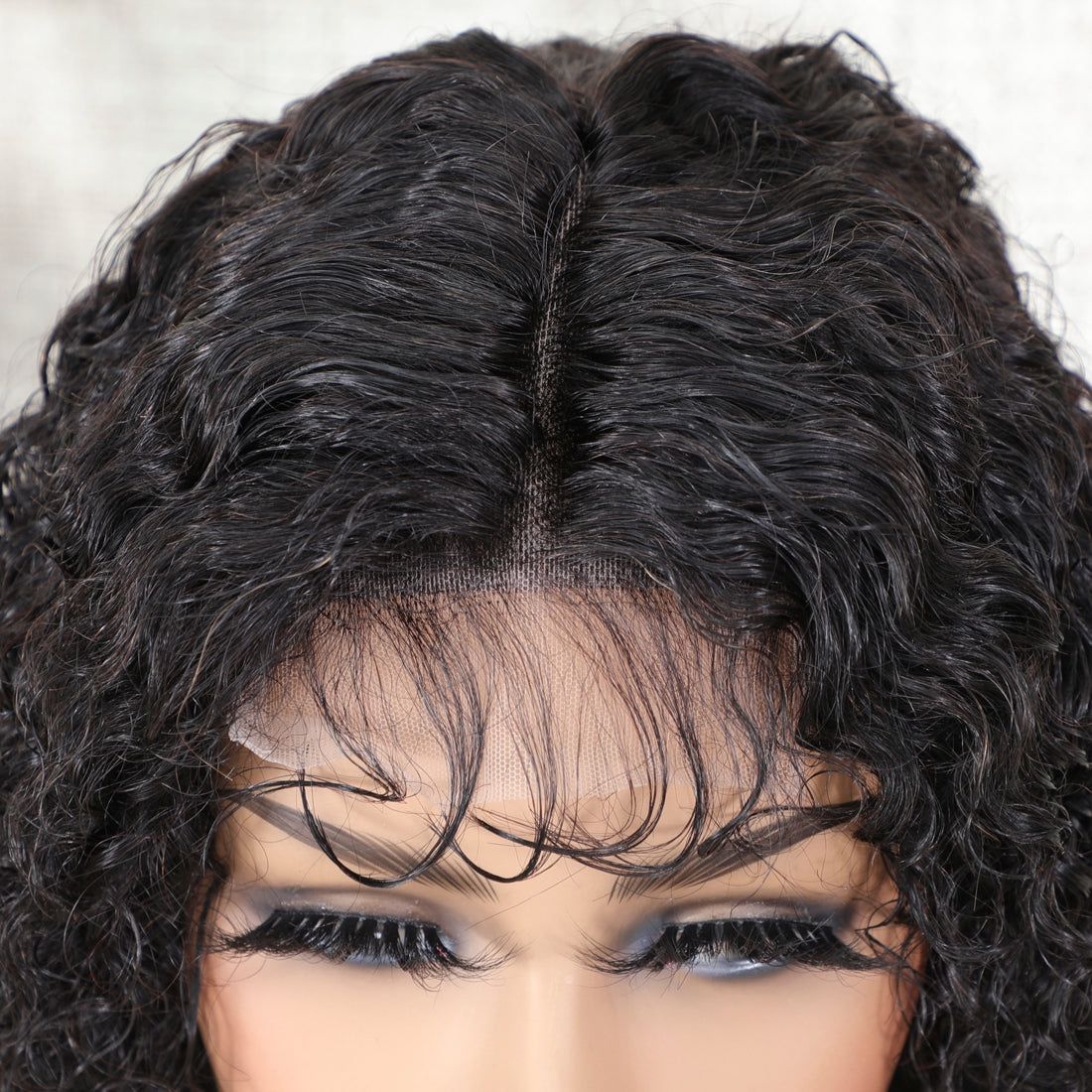 Short Deep Curly Lace Closure Human Hair Wigs Remy Brazilian Curly Hair Wigs