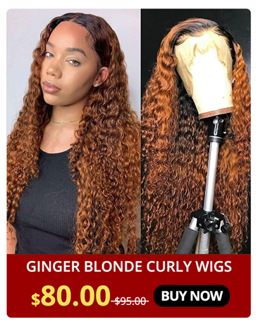 Ginger Blonde Curly Wigs